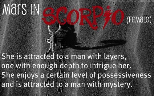 Mars in Scorpio Female