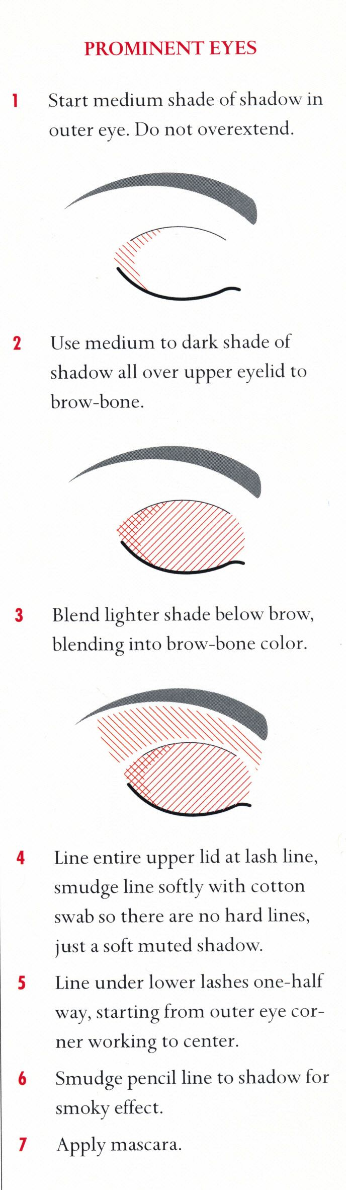 Eye make up for prominent eyes