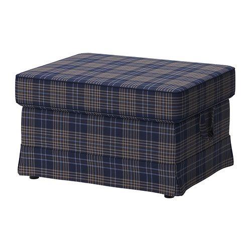EKTORP Footstool - Rutna multicolour - IKEA