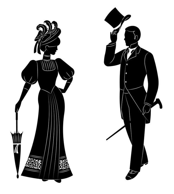 144 best images about Victorian Silhouettes on Pinterest