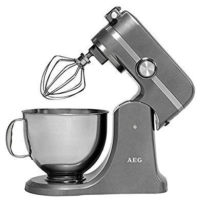AEG Küchenmaschine UltraMix KM 4000 (10 Geschwindigkeitsstufen, 1000 Watt, LED-Licht, Voll-Metall Gehäuse, 4,8 + 2,9 Liter Edelstahl-Rührschüsseln, inkl. umfangreiches Zubehör)