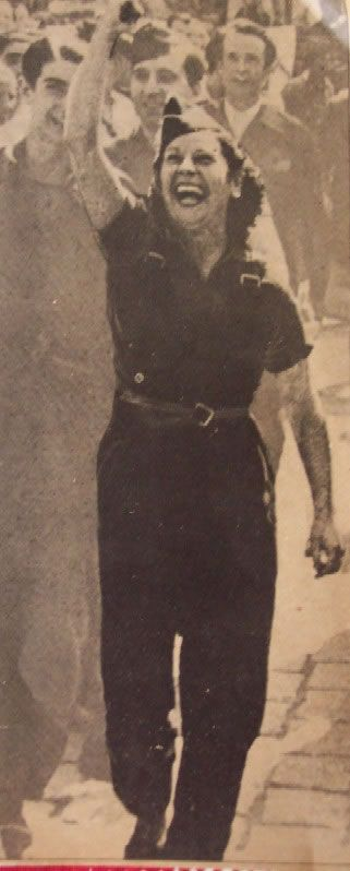 Spain - 1936-37. - GC - Milicianas / miliciana con fuerza