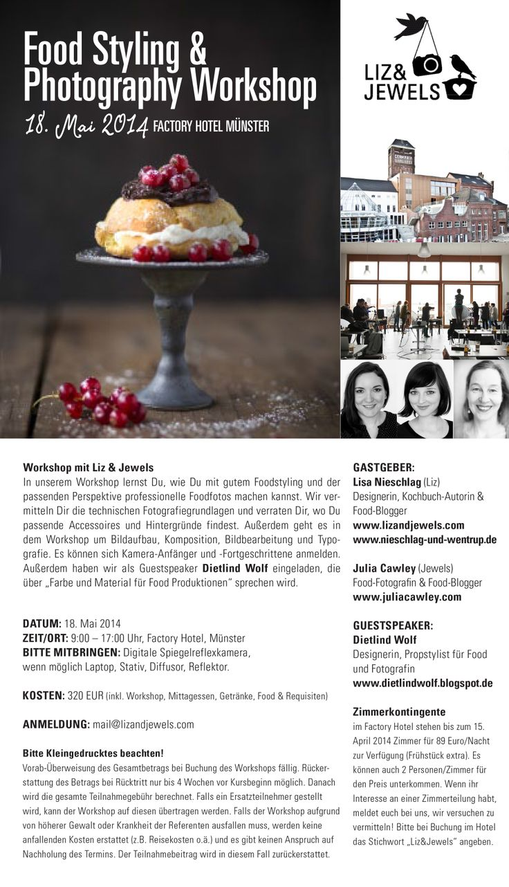 Food Styling & Photography Workshop with Liz & Jewels in Muenster, Germany. May, 18th, 2014