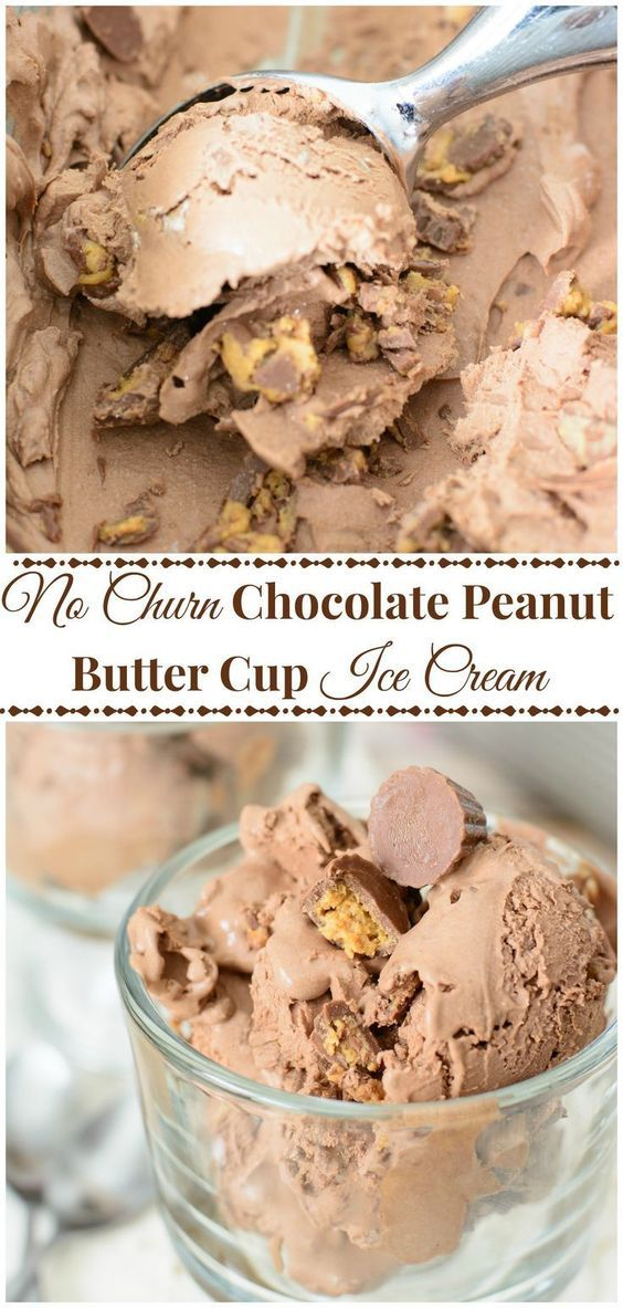 The smoothest ice cream made without an ice cream maker and only 5 ingredients! This No Churn Ice Cream is packed with chocolate and peanut butter flavor and is so easy to make! Perfect summer treat!