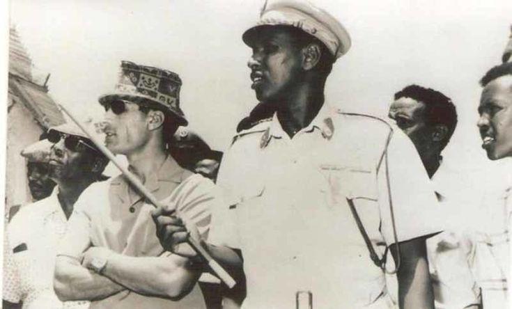 Siad Barre with Gaddafi in the Somalian capital, 1971.