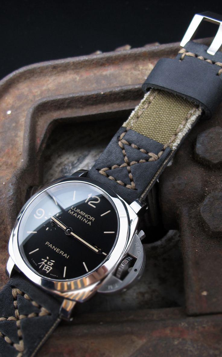Tela e Pelle Military Watch Strap Collection on Pam498 #toolwatch #diverwatch #watchfam #watchnerd #watcholic #watchpics #watchporn #watchlover #watchaddict #watchoftheday #sportwatch #bigwatch #pam498 #womw #speedytuesday