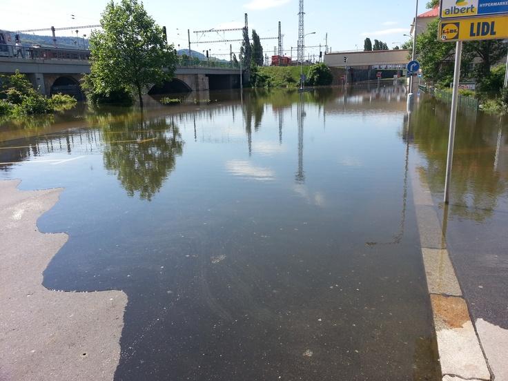 Děčín - povodně 2013