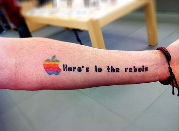 The Mac Daddy Collection Of Apple Logo Tattoos: Crazy Tattoos, Nerdy Tattoos, Creative Tattoos, Body Art, Apples, Apple Logo, Logo Tattoos, Forearm Tattoos
