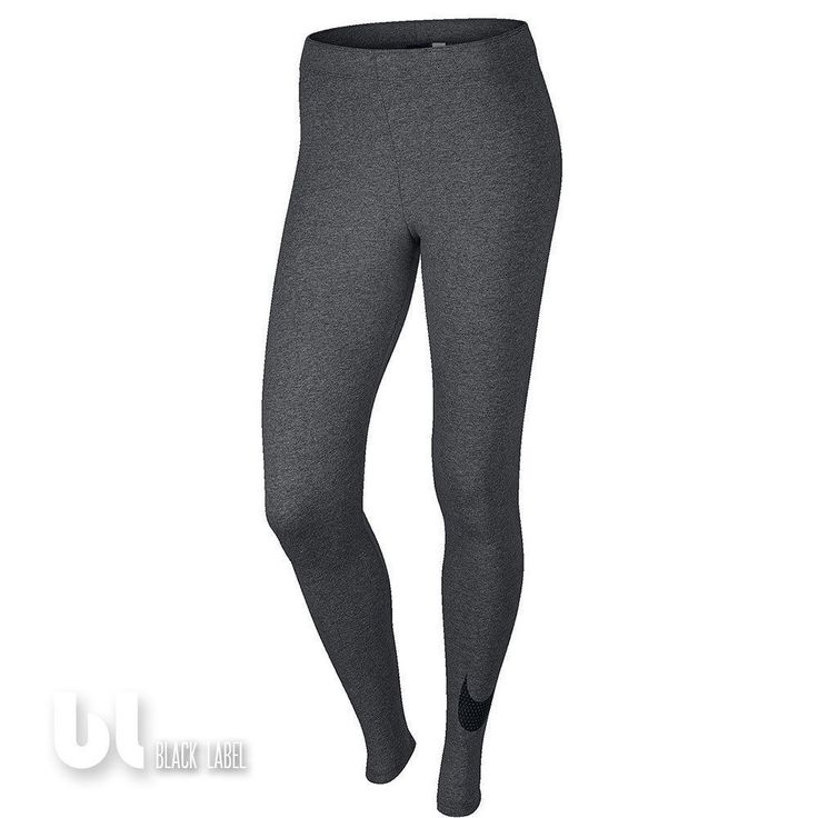 Nike Club Large Swoosh Tight Damen Sport Leggings Fitness Jogging Leggings Grau in Kleidung & Accessoires, Damenmode, Fitnessmode | eBay!
