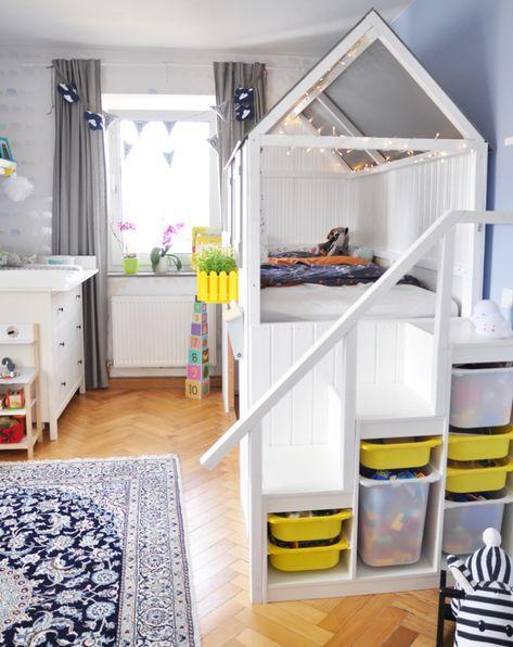 Lit de maison Bricolage – Instructions pour la construction d'un hack IKEA KURA avec escalier – Milfcafé   – Giuseppe