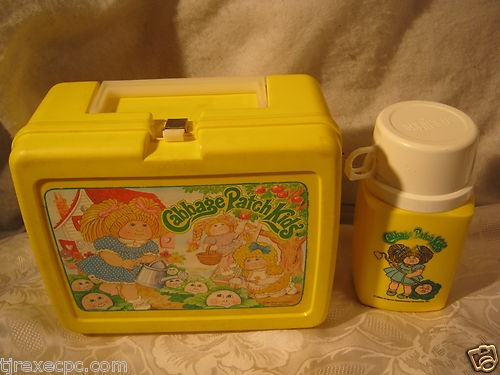 CABBAGE PATCH KIDS 1980'S VINTAGE LUNCHBOX & THERMOS