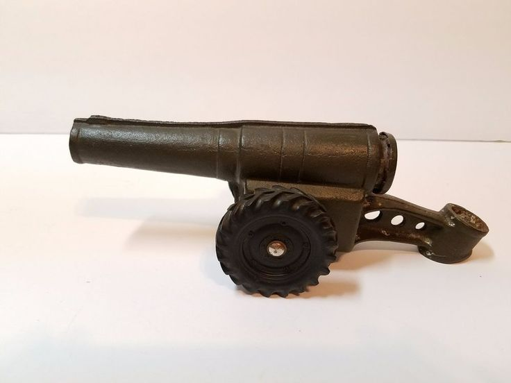 Vtg Cast Iron Conestoga Big Bang Metal Calcium Carbide Cannon Toy 60mm Parts Old
