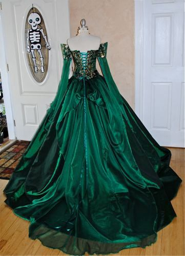 Miranda Medieval Corset Gown Silk and Chiffon by RomanticThreads, $945.00