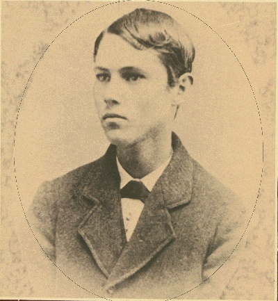 Outlaw Jesse James as a young man.