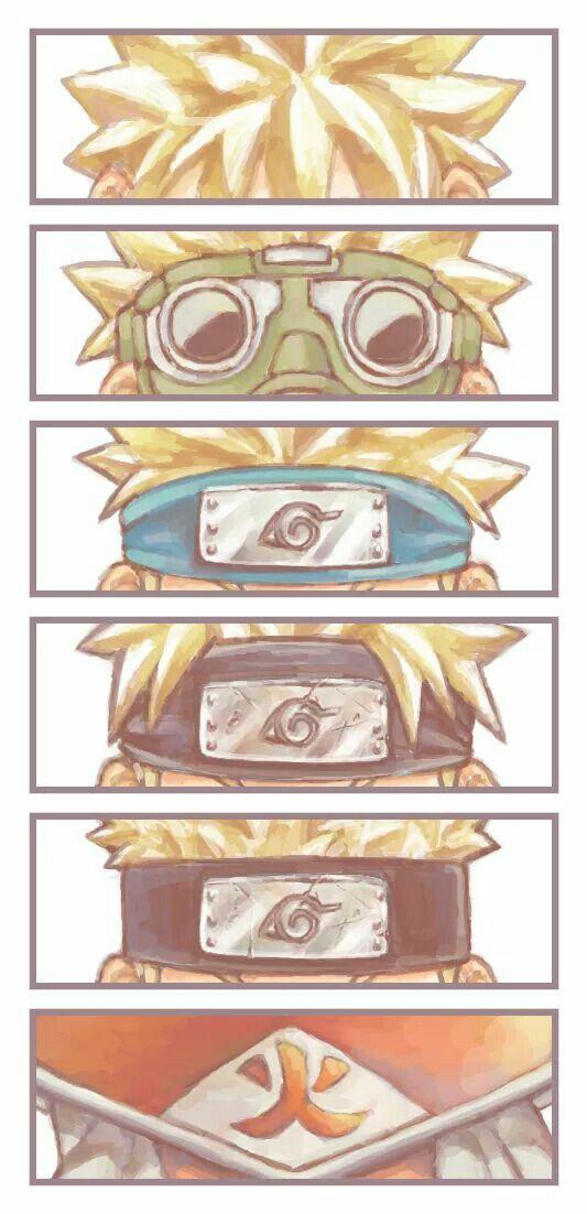 """Evolución :""""3  Todo el camino ninja que recorrió y que lo vimos crecer toda nuestra infancia :'D. I LOVE NARUTO♡ By_Lizi`G.H -w-"""