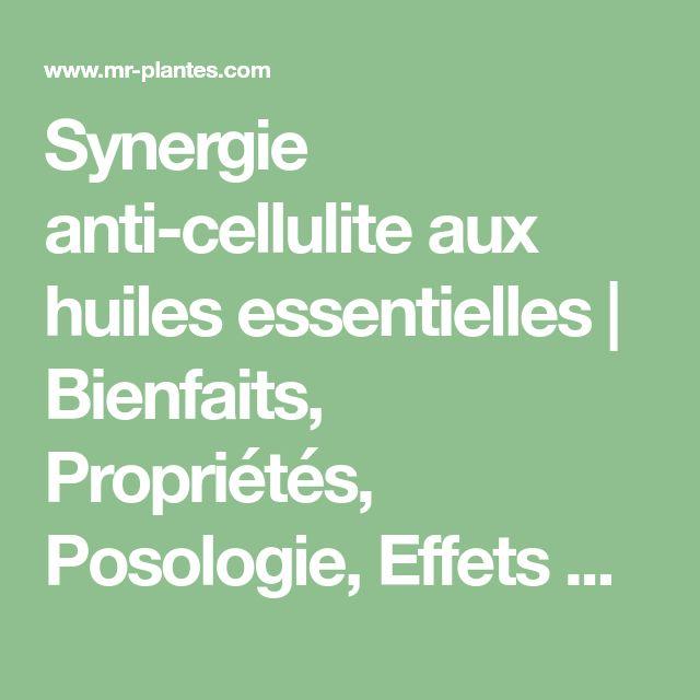 Synergie anti-cellulite aux huiles essentielles | Bienfaits, Propriétés, Posologie, Effets Secondaires