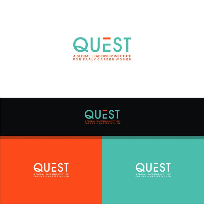 Create a compelling logo for Quest - a global leadership institute for early career women by professor X