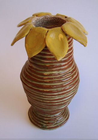 coil sunflower pot