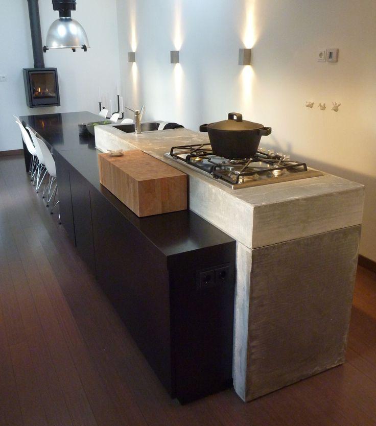 studio-ei -- EigenHuis&Tuin opdracht - IDTV - keuken - metamorfose - van garage tot leefkeuken - betonnen aanrecht - meubelontwerp - interieurontwerp - keuken van bouwmaterialen - www.studio-ei.nl