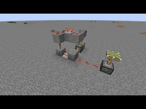Minecraft Tutorial - Piston Redstone Clock (Compact)