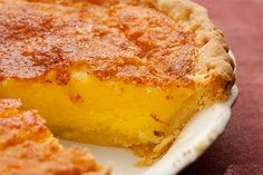 """Buttermilk-Lemon Chess Pie. Chess pie, or """"chest pie,"""" may have gotten its name from the small, tin-roofed cabinets that used to be common in kitchens for storing cooling pies and other baked goods."""