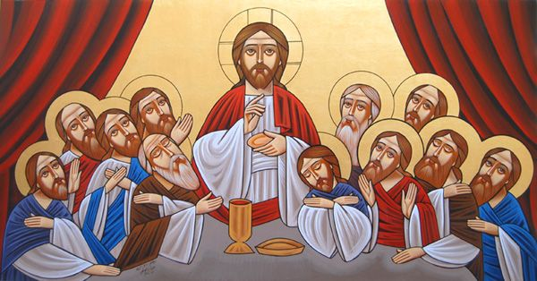 IcCSupper - Orthodox Last Supper Icon