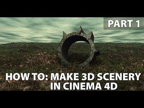 How to: Make Background Scenery [Cinema 4d] - YouTube