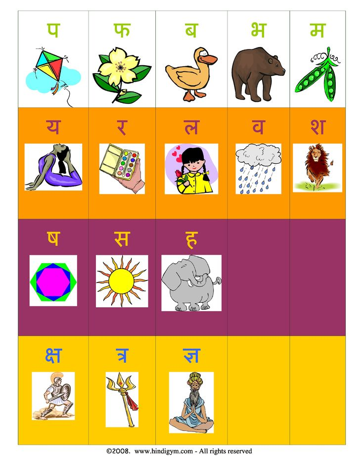 Hindi Alphabet Varnamala Chart Print For Free Hindi