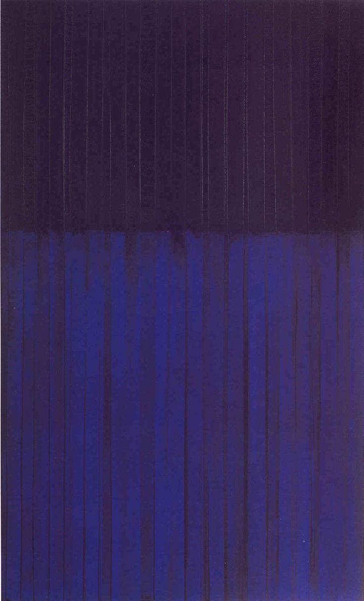 """Pierre Soulages """" Peinture"""" 1990 Huile sur toile ©"""