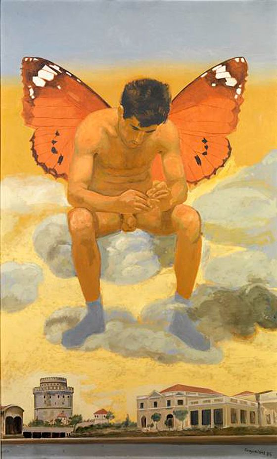 yannis tsarouchis images | Yannis Tsarouchis man with butterfly wings x560 | ADVOCATE.COM