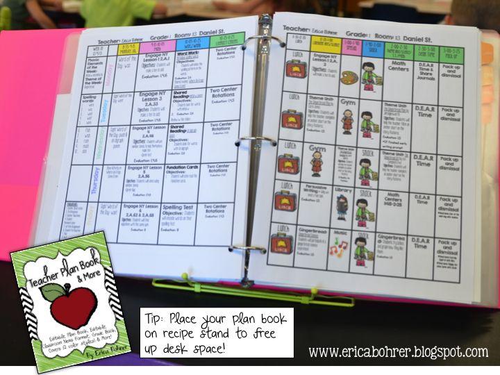 Erica's Ed-Ventures: Teacher Plan Book and More!!!