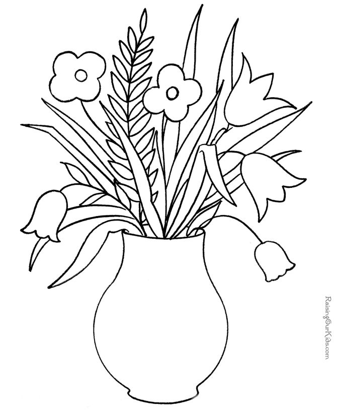 free may flowers coloring pages - photo#13