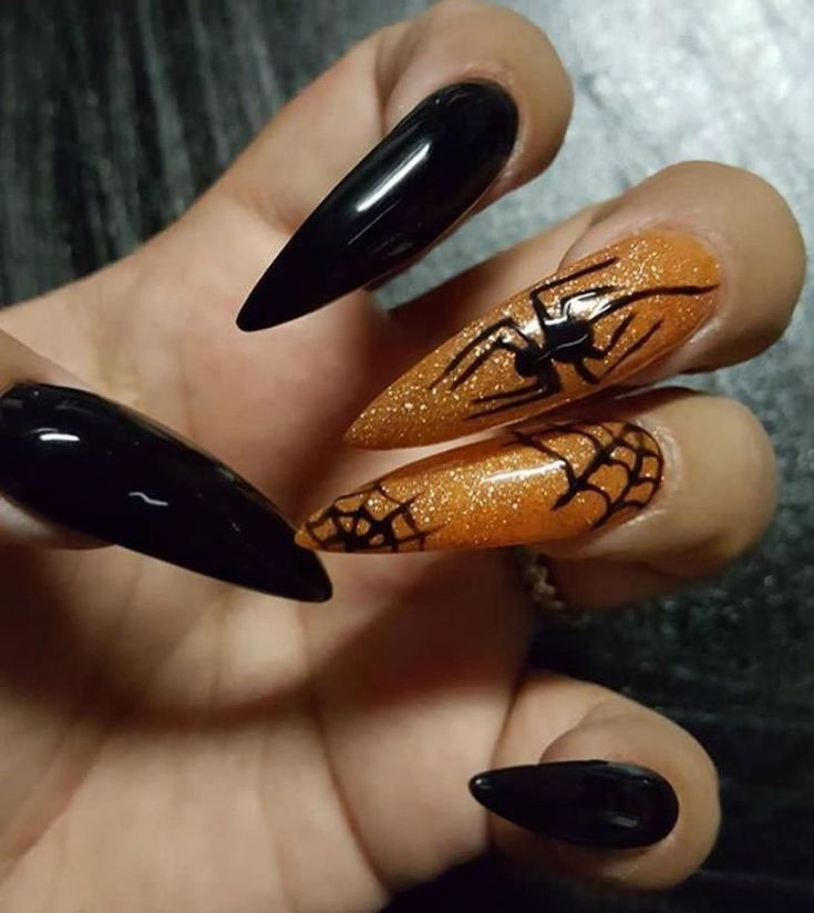 40 Inspiring Halloween Nail Design for Your Style | Coffin ...