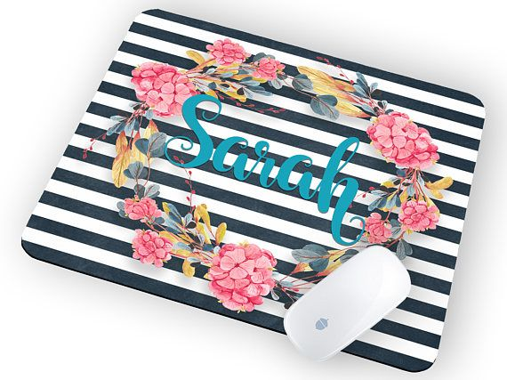 Custom name mouse pad Mouse pad floral Mouse pad