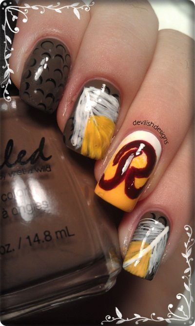Washington Redskins NailsThe woman I shall mary will where these nails!!!! I am still looking btw!!!!
