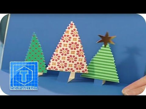 3D-Weihnachtskarten / Pop Up Karten | DIY | ToolTown - YouTube