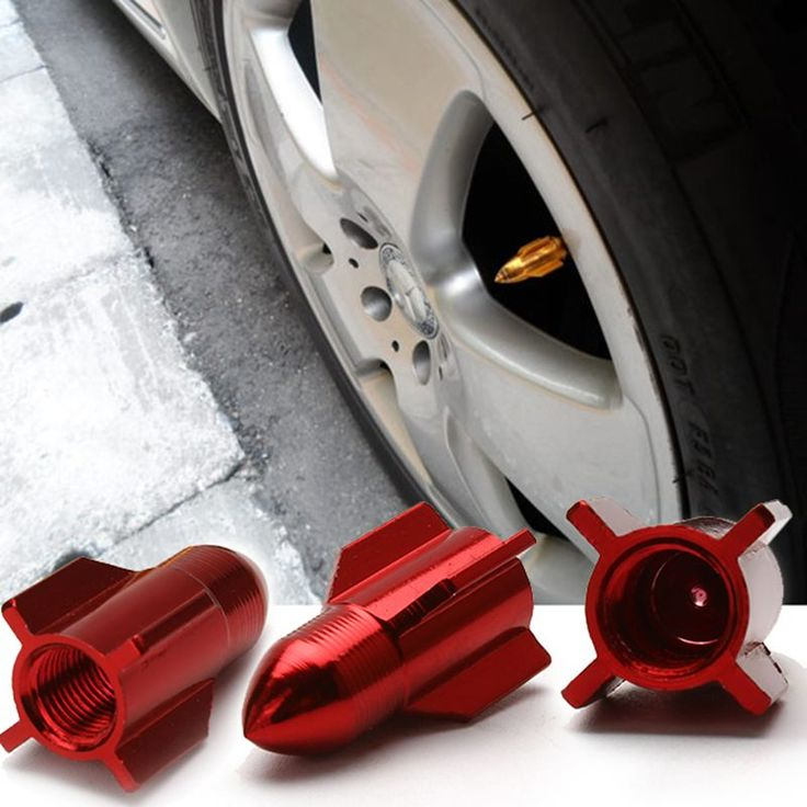 4pcs Universal Bicycle Car Missile Tire Valve Caps Motorcycle Tyre Wheel Ventile Air Stems Cover Airtight rims Car Accessories