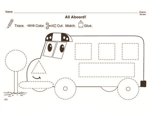 Bus Trace Worksheet For Kids