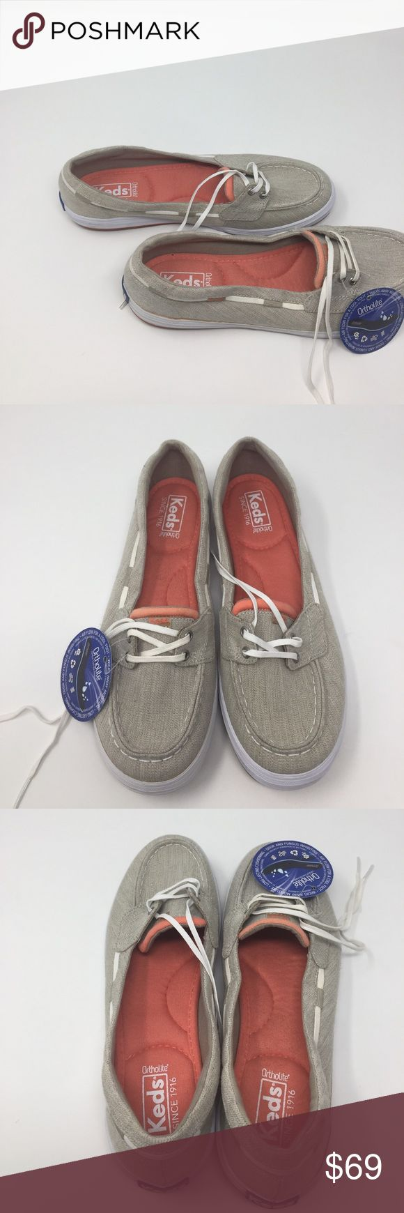 Women's keds shoe glimmer boat shoes tan 9 a2box 2 These are new without box or tags the shoe strings are off color the sides have glue mark showing too still in good condition women keds shoe glimmer boat shoes tan size 9 keds Shoes Flats & Loafers