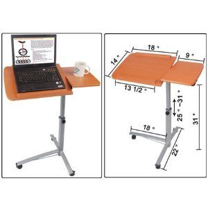 $54.95 (CLICK IMAGE TWICE FOR UPDATED PRICING AND INFO)  Rolling Mobile Adjustable Laptop Desk Cart w/ Split-Top Over Bed Hospital Table  See More Over Bed Hospital Tables at http://www.zbuys.com/level.php?node=3941=over-bed-hospital-tables