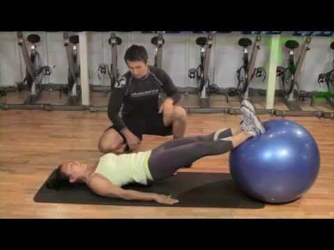 BJJ Conditioning: The Swiss Ball Bridge Series with Roy Duquette & Emily Kwok - YouTube