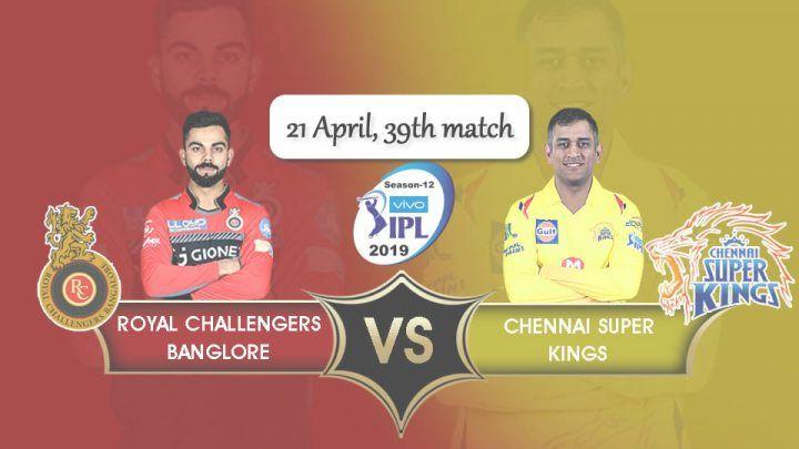 Royal Challengers Bangalore Vs Chennai Super Kings 39th Ipl T20 Full Scorecard Chennai Super Kings Royal Challengers Bangalore Challenger