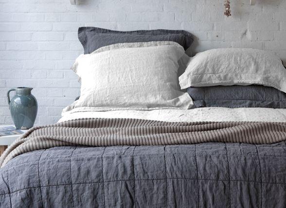 House in Style dekbedovertrek Saint Remy marble linnen bedtextiel slaapkamer morpheus beddengoed
