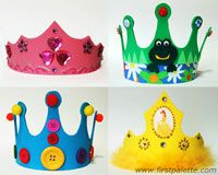 Activity - kids make their own crowns.