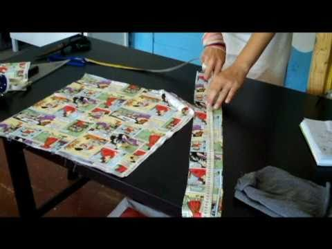 Shopping bag with inside pocket DaWanda DIY: Die Beuteltasche - YouTube