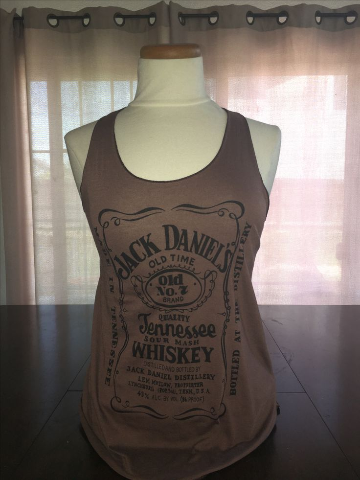 Brown Jack Daniels Tank $22