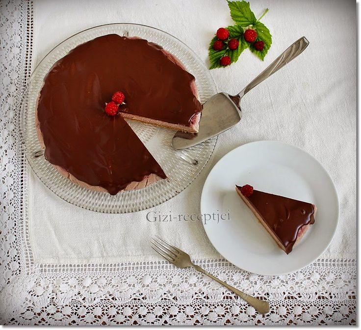 Gizi-receptjei.  Várok mindenkit.: Csokoládés-málnás sajttorta.