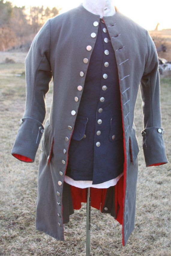 1760 Wool Frock Coat Made to Order by LitttleBits on Etsy