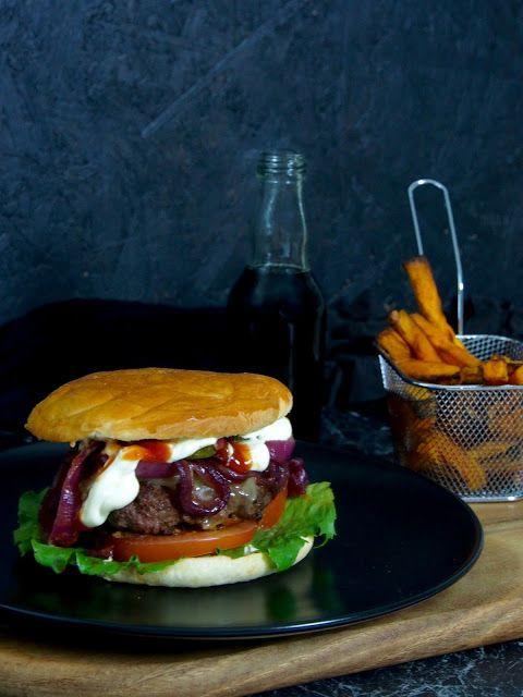 Flatbread burger