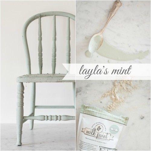 Miss Mustard Seed's milk paint in Layla's Mint.
